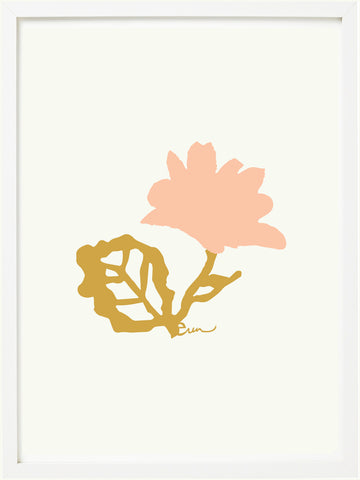 DUSTY PINK FLOWER GICLEE PAPER ART PRINT