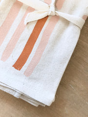 GRID COTTON NAPKINS. SET OF 2.