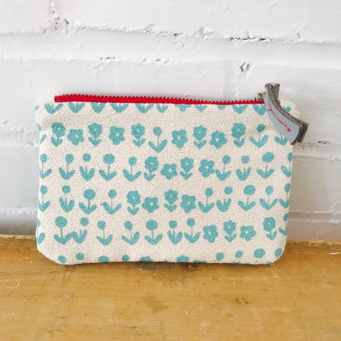 SEA BLUE SCANDI ZIPPER BAG