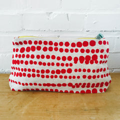 RED HILARY ZIPPER BAG