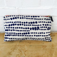 NAVY HILARY ZIPPER BAG