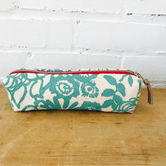 SEA BLUE WILD GARDEN ZIPPER BAG