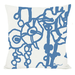 COBALT GEORGE LINEN PILLOW