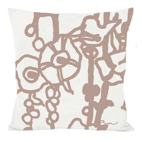 TAUPE BROWN GEORGE LINEN PILLOW
