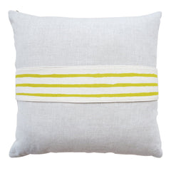 GOLDEN ROD 3 LINE BAND LINEN PILLOW