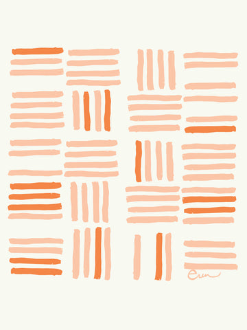DUSTY PINK GRID GICLEE PAPER ART PRINT