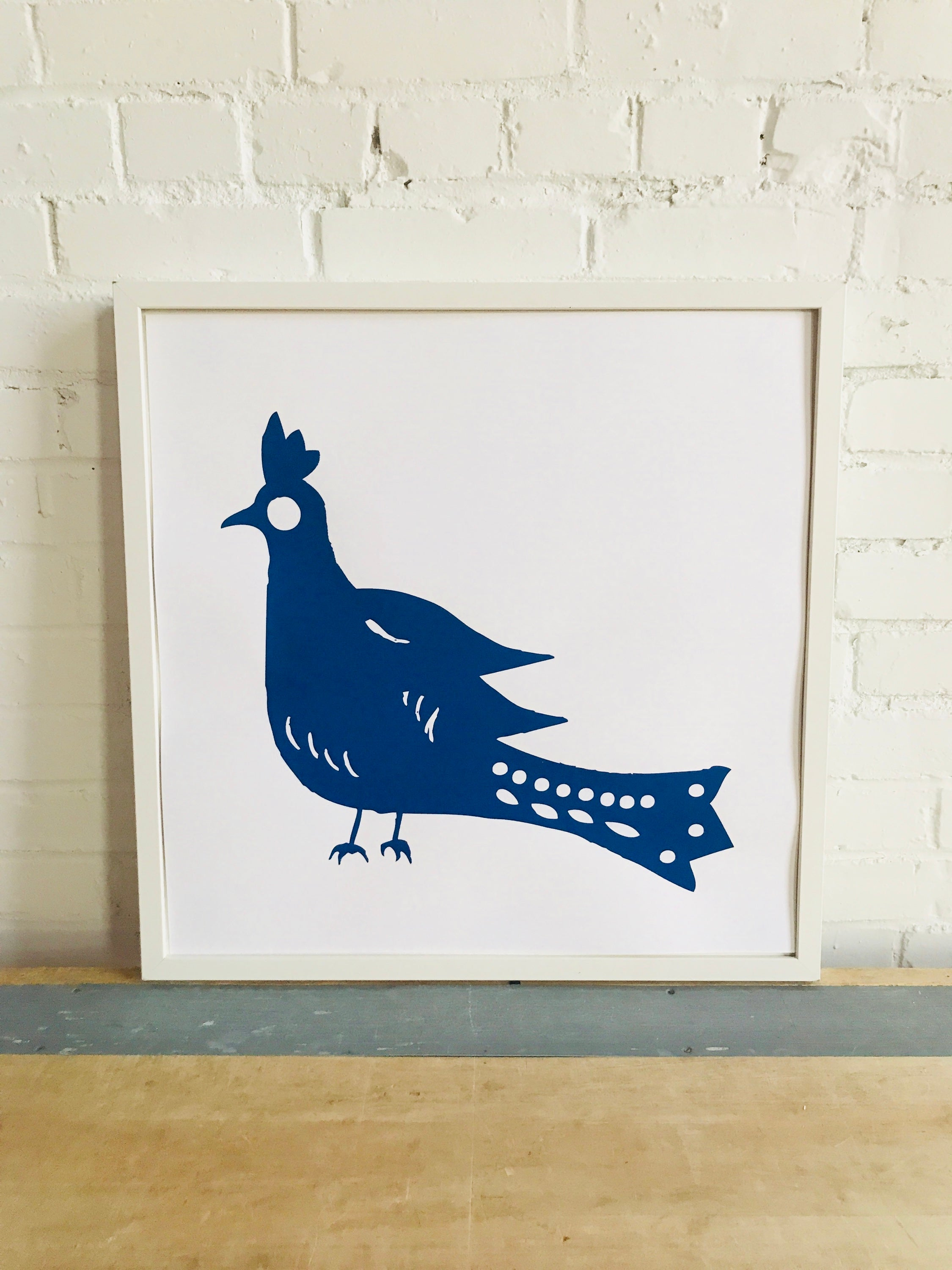 SHIPS NOW! NAVY MATE BIRD PAPER PRINT