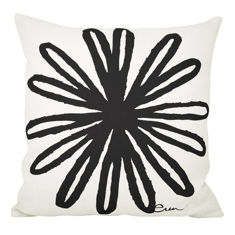 BLOOM PILLOW COVER IN BLACK