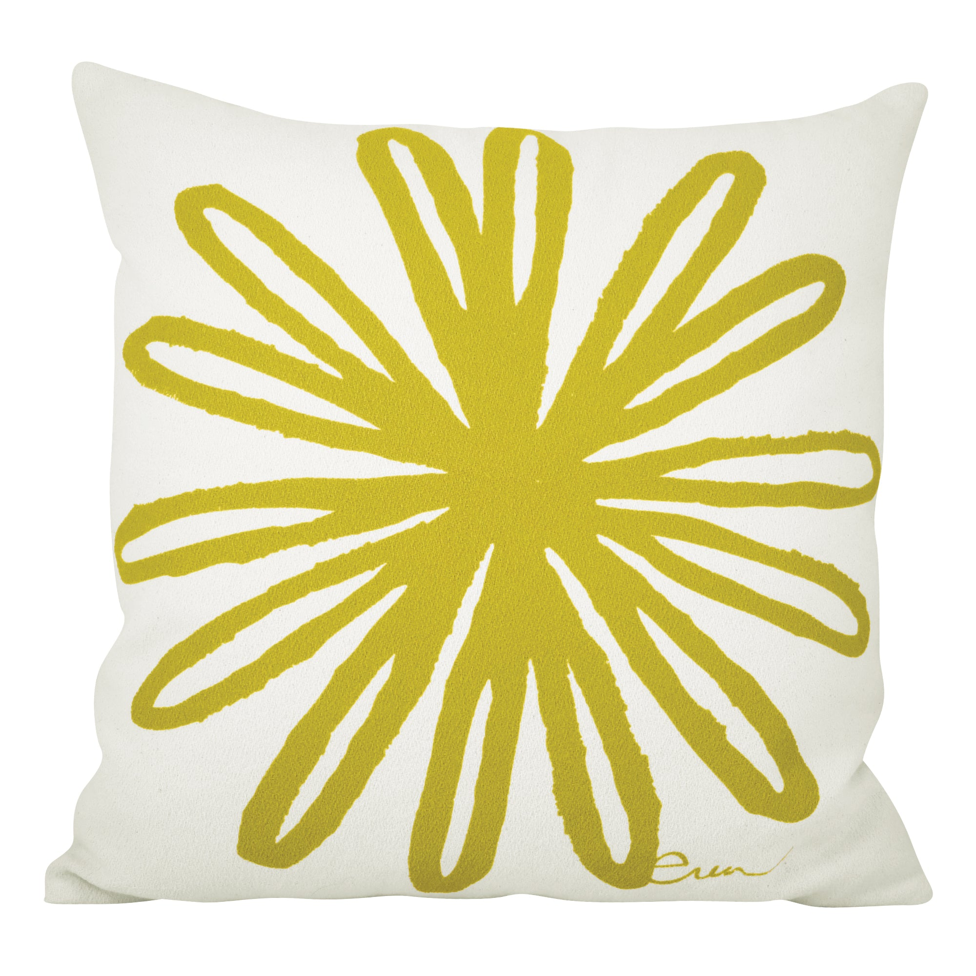 VINTAGE GREEN BLOOM PILLOW