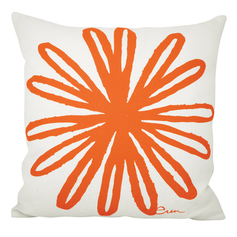 BLOOM PILLOW COVER IN MANGO
