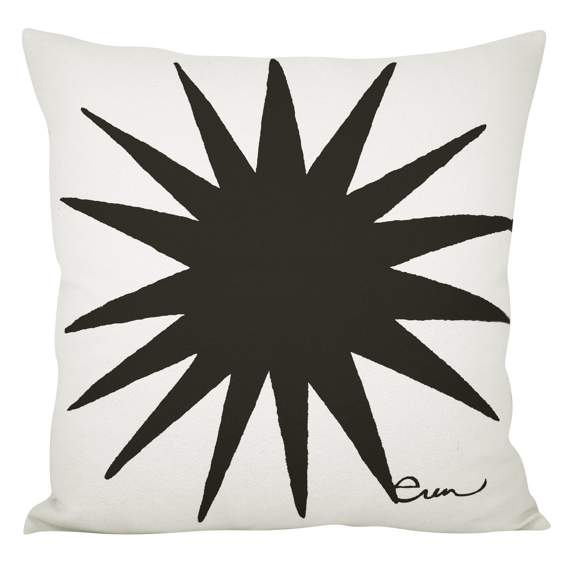 BURST PILLOW COVER IN BLACK