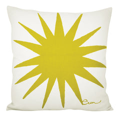 BURST PILLOW COVER IN GOLDEN ROD