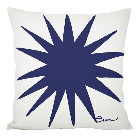 BURST PILLOW COVER IN NAVY