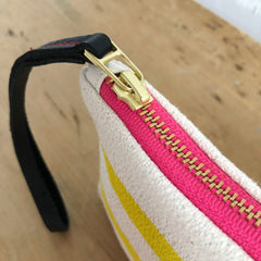 LEMON 3 LINES ZIPPER BAG