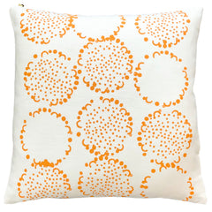TANGERINE DANDELION PILLOW COVER
