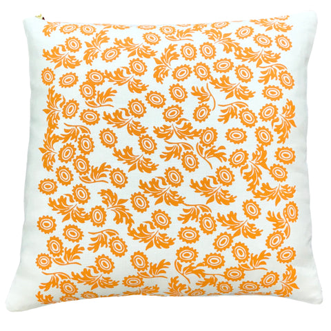 TANGERINE WALLFLOWER PILLOW