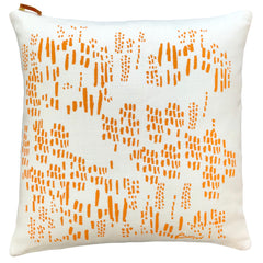 TANGERINE RAIN PILLOW COVER