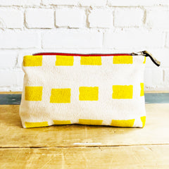LEMON SQUARES ZIPPER BAG