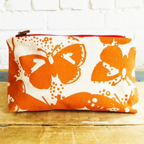 MANGO BUTTERFLIES ZIPPER BAG