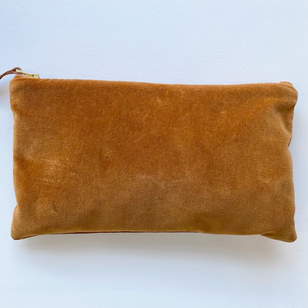 SHIPS NOW! SIENNA VELVET CLUTCH ZIPPER BAG