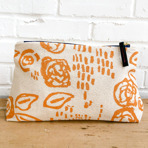 TANGERINE VIVIAN MAKEUP ZIPPER BAG