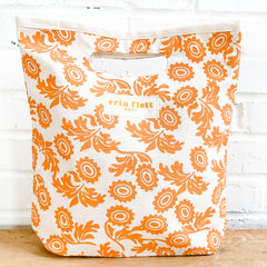 TANGERINE WALLFLOWER LUNCH BAG