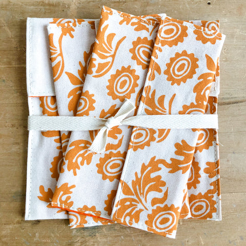 TANGERINE WALLFLOWER SNACK BAG SET