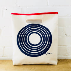 NAVY SUN LUNCH BAG