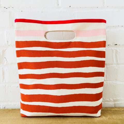 TOMATO AND BLUSH PINK CASCO LUNCH BAG