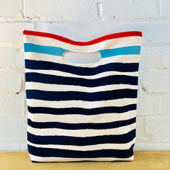 SEA BLUE AND NAVY CASCO LUNCH BAG