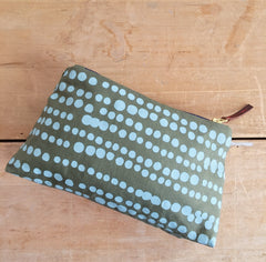ROBINS EGG HILARY ZIPPER BAG
