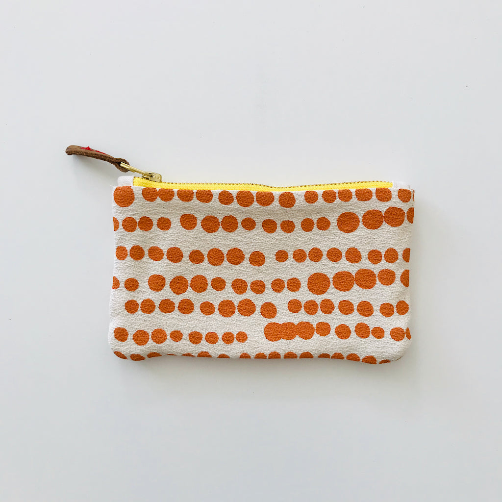 SHIPS NOW! MANGO HILARY BARK CLOTH CARD WALLET