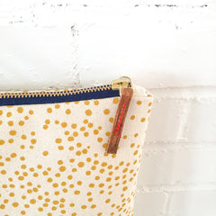 GOLD POLKA DOTS FOLDER BAG