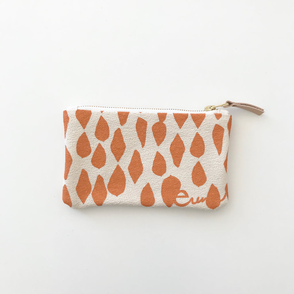 SHIPS NOW! MANGO LEAVES CARD WALLET ZIPPER BAG