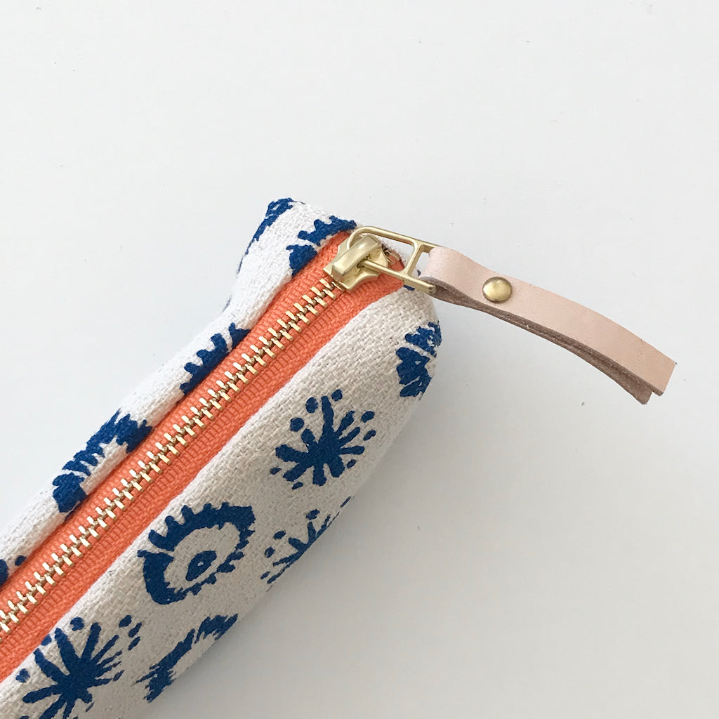 SHIPS NOW! ROYAL FIREWORKS PENCIL ZIPPER BAG