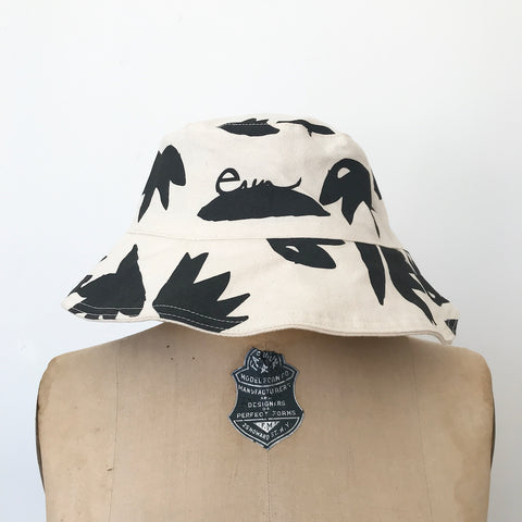 SHIPS NOW! WORN BLACK LOTUS BUCKET HAT