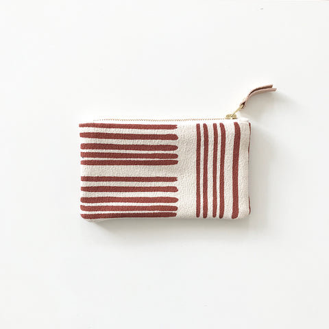 SHIPS NOW! CLAY BRUSH CARD WALLET ZIPPER BAG