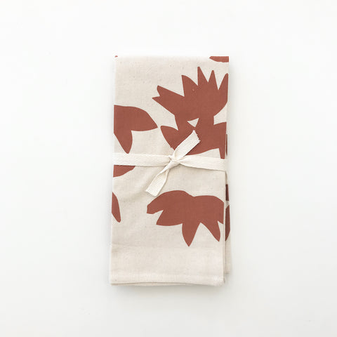 SHIPS NOW! LOTUS COTTON NAPKINS. SET OF 2.