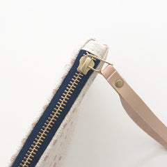 SHIPS NOW! DUSTY PINK NIGHT SKY WRISTLET ZIPPER BAG