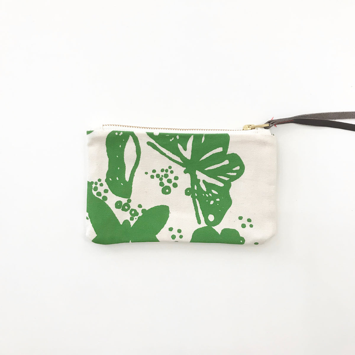 SHIPS NOW! EVERGREEN BUTTERFLIES WRISTLET ZIPPER BAG