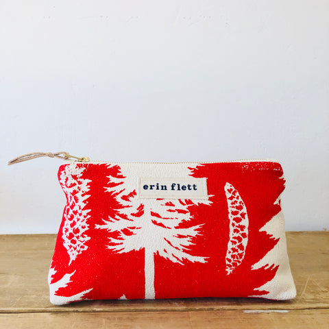 CREW ASHLEY PINE MAKEUP ZIPPER BAG