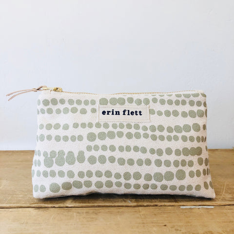 OATMEAL HILARY MAKEUP ZIPPER BAG