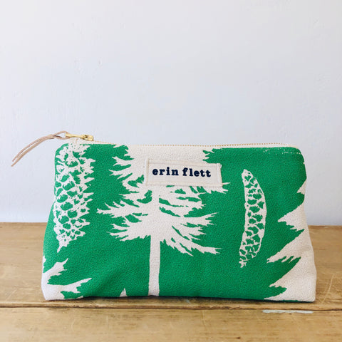SEA FOAM ASHLEY PINE MAKEUP ZIPPER BAG