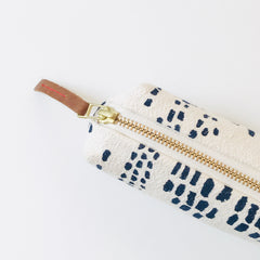 SHIPS NOW! NAVY RAIN PENCIL ZIPPER BAG
