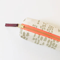 SHIPS NOW! OATMEAL RAIN PENCIL ZIPPER BAG