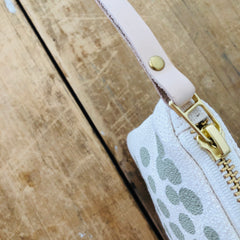 OATMEAL HILARY FLAT PENCIL ZIPPER BAG
