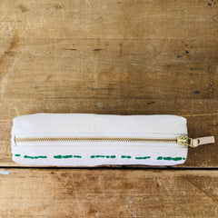 SEA FOAM RIVER ROUND PENCIL ZIPPER BAG