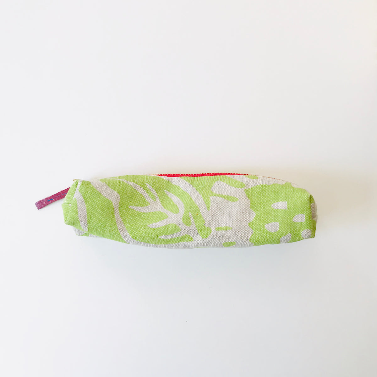 SHIPS NOW! VINTAGE GREEN GARDEN PENCIL ZIPPER BAG