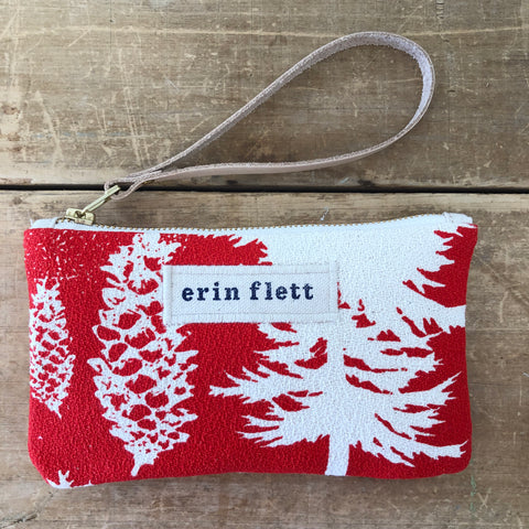CREW ASHLEY PINE WRISTLET ZIPPER BAG