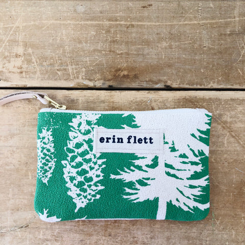 SEA FOAM ASHLEY PINE CARD WALLET ZIPPER BAG